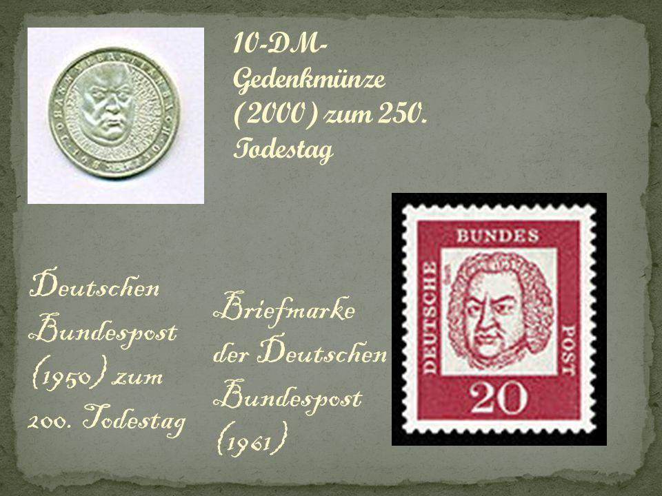 Deutschen Bundespost (1950) zum 200. Todestag Briefmarke der Deutschen Bundespost (1961)