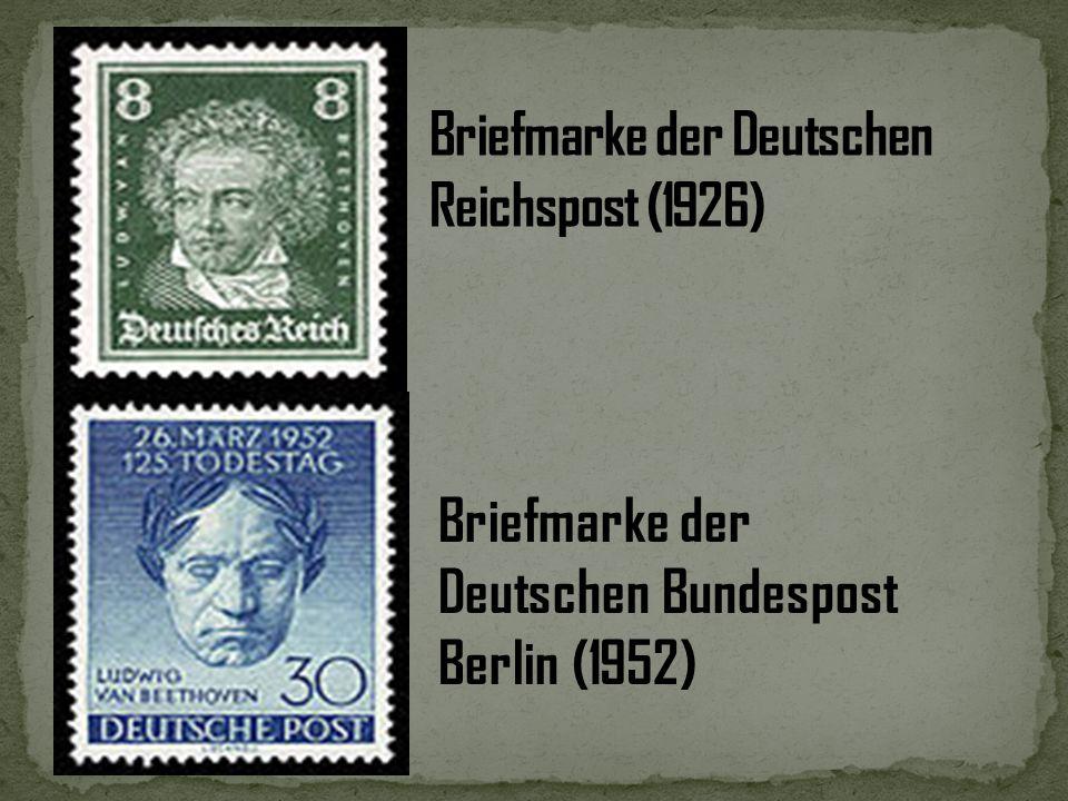 Österreichische 1 Euromünze (2002) Briefmarke (2006) der Deutschen Post zum 250. Geburtstag