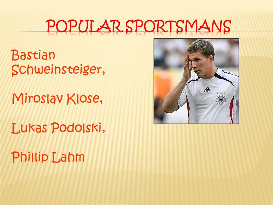 Bastian Schweinsteiger, Miroslav Klose, Lukas Podolski, Phillip Lahm