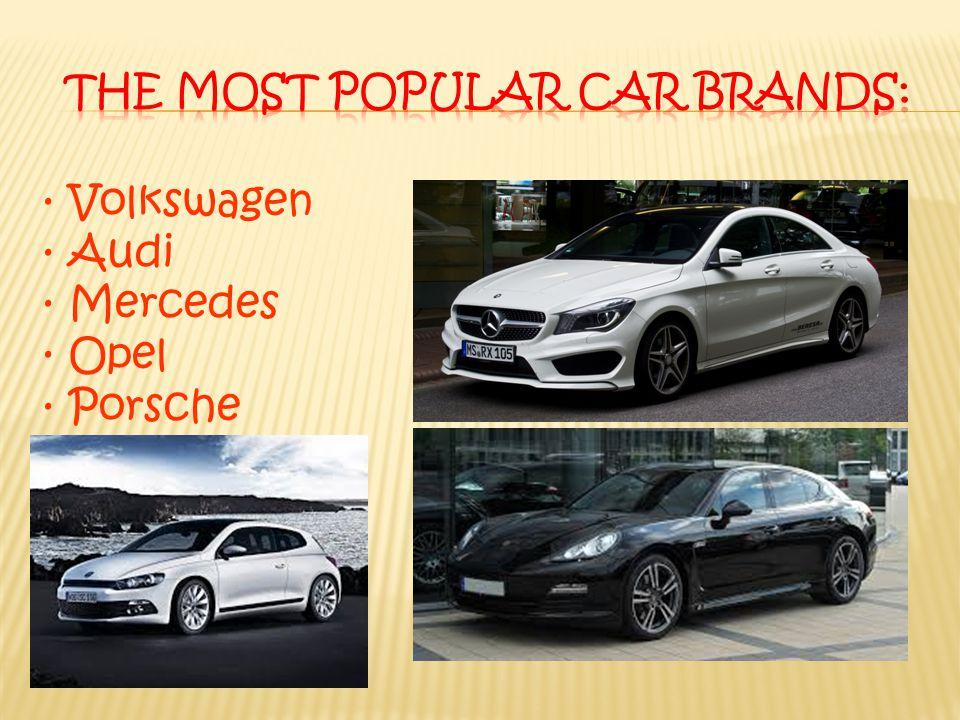 · Volkswagen · Audi · Mercedes · Opel · Porsche