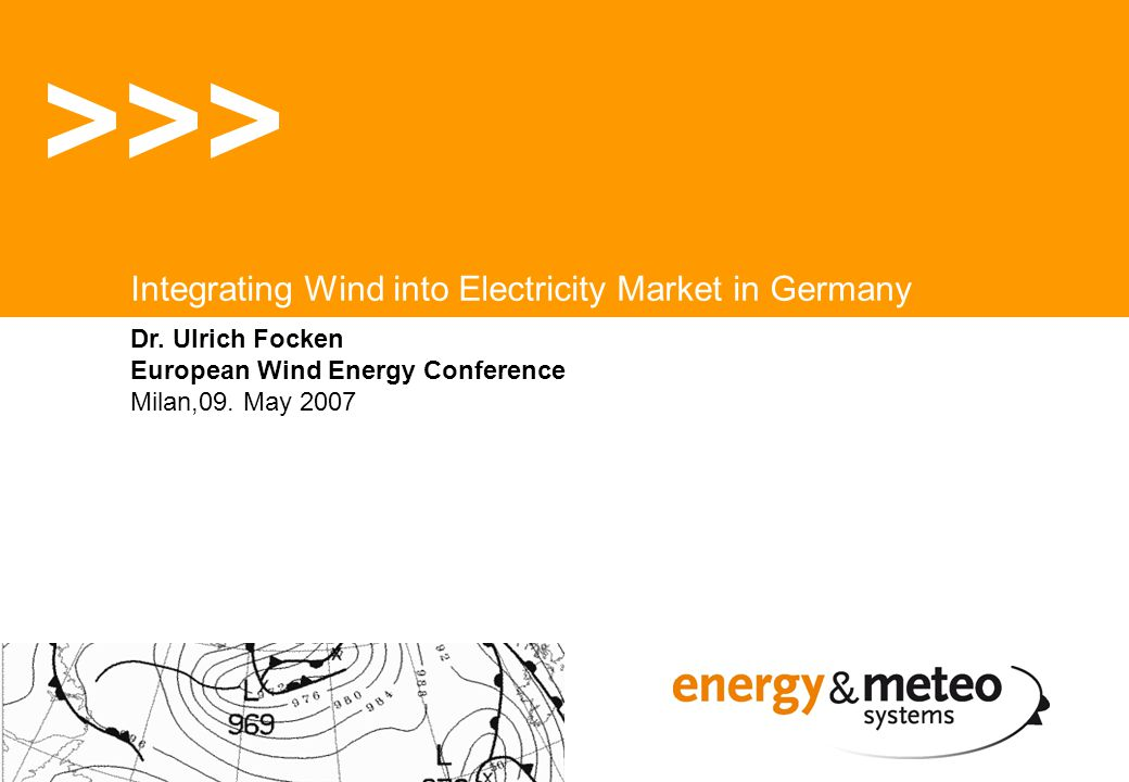 Dr. Ulrich Focken European Wind Energy Conference Milan,09.