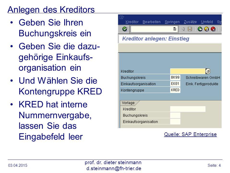 Kreditor anlegen Anschrift 03.04.2015 prof.dr.