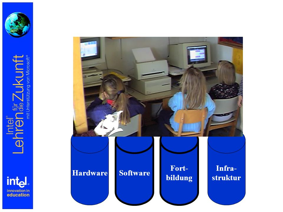 Intel Lehren für die Zukunft Fortbildungsinitiative im deutschsprachigen Raum Konzeption spricht alle Schularten an Intel Lehren für die Zukunft ist 40 Stunden Präsenzfortbildung Intel Lehren für die Zukunft als Zertifizierungsmaßnahme