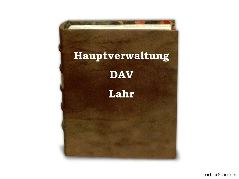 Hauptverwaltung DAV Lahr Joachim Schneider