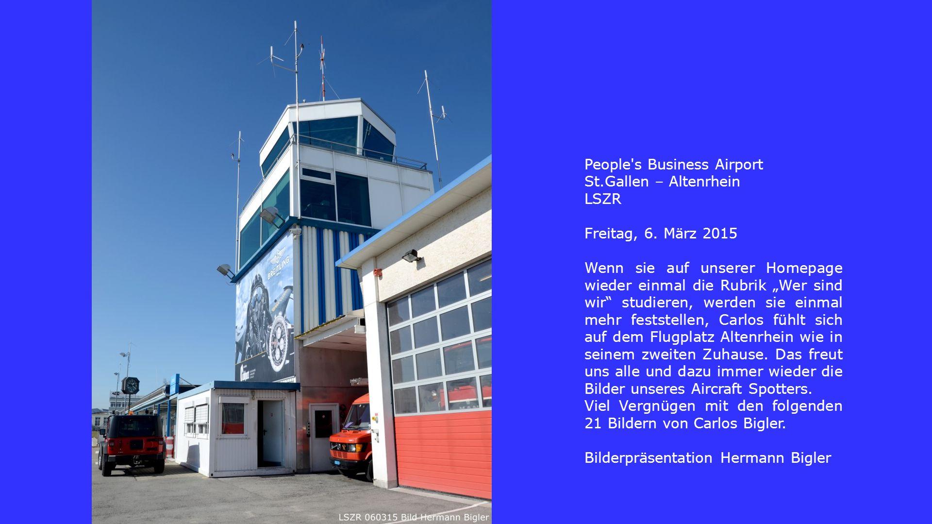 People s Business Airport St.Gallen – Altenrhein LSZR Freitag, 6.