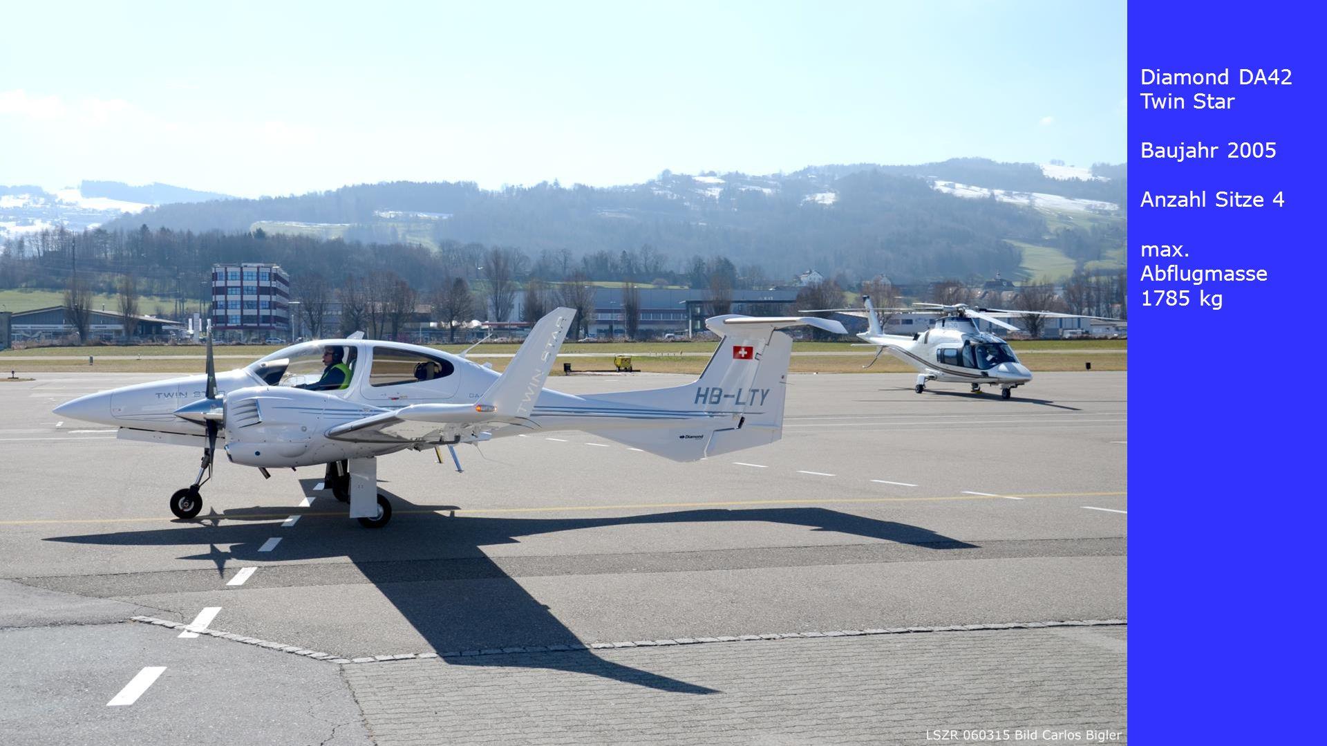 Diamond DA42 Twin Star Baujahr 2005 Anzahl Sitze 4 max. Abflugmasse 1785 kg