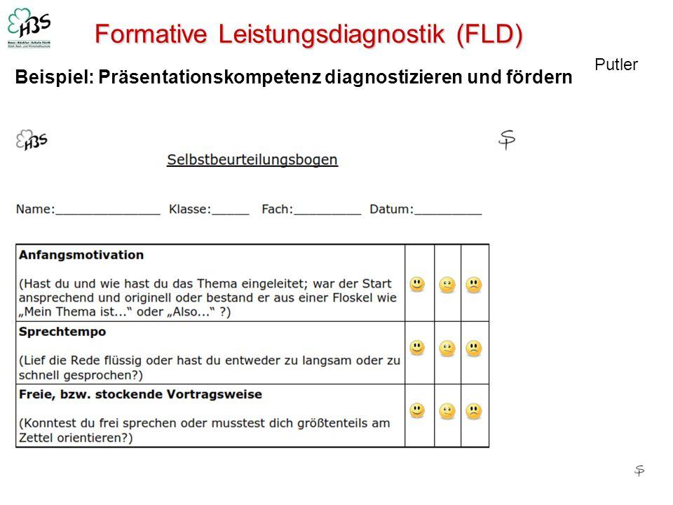 Formative Leistungsdiagnostik (FLD) Putler Beispiel: Präsentationskompetenz diagnostizieren und fördern