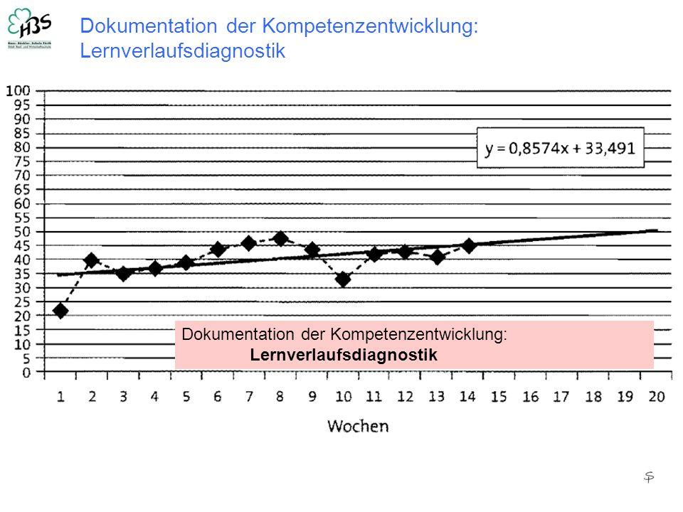 Dokumentation der Kompetenzentwicklung: Lernverlaufsdiagnostik Dokumentation der Kompetenzentwicklung: Lernverlaufsdiagnostik