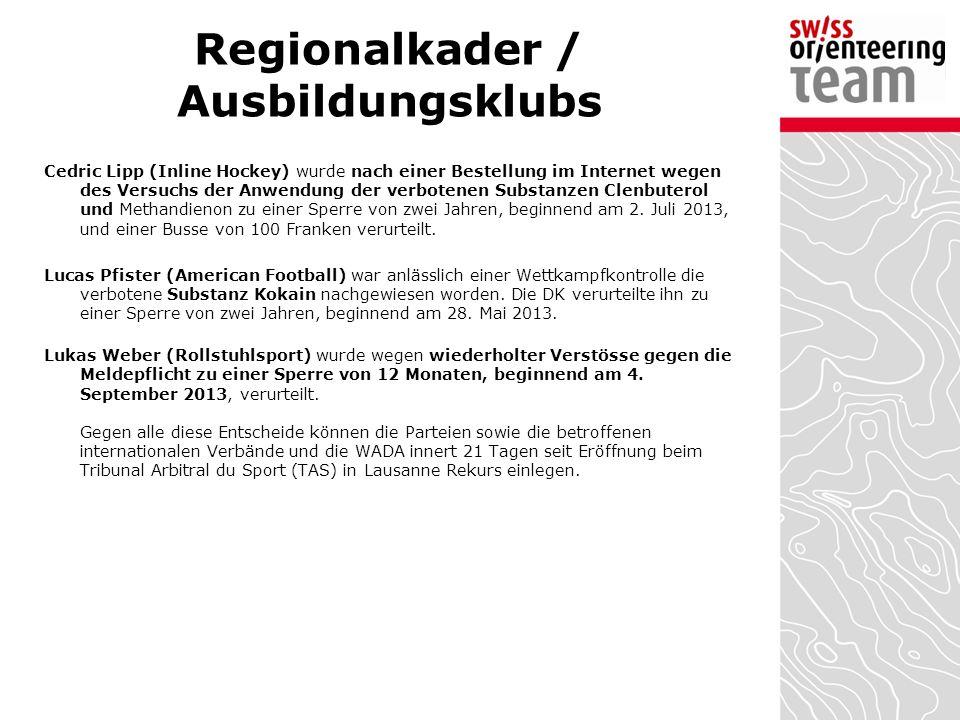 Dopingbekämpfung Die Stiftung Antidoping Schweiz ist seit dem 1.