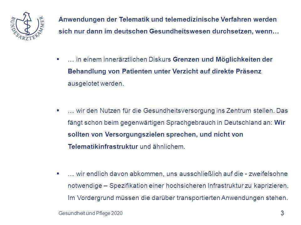 Anwendungen der Telematik und telemedizinische Verfahren werden sich nur dann im deutschen Gesundheitswesen durchsetzen, wenn…  … wir die Bürger und Patienten mitnehmen und ihnen verdeutlichen, dass einzig und alleine sie die Kontrolle über ihre Gesundheitsdaten bekommen sollen.
