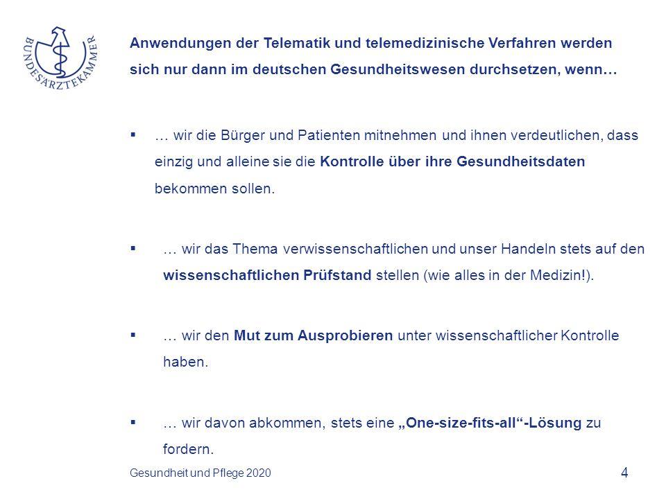 Anwendungen der Telematik und telemedizinische Verfahren werden sich nur dann im deutschen Gesundheitswesen durchsetzen, wenn…  … wir das Thema Interoperabilität in den Griff bekommen.