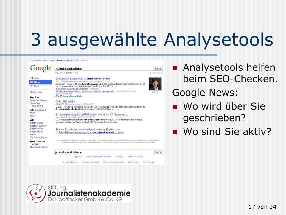 16 von 34 Warum das alles? Social-Media-Netzwerke werden immer wichtiger für die Suchmaschinenoptimierung (SEO). http://t3n.de/news/diese-faktoren- be