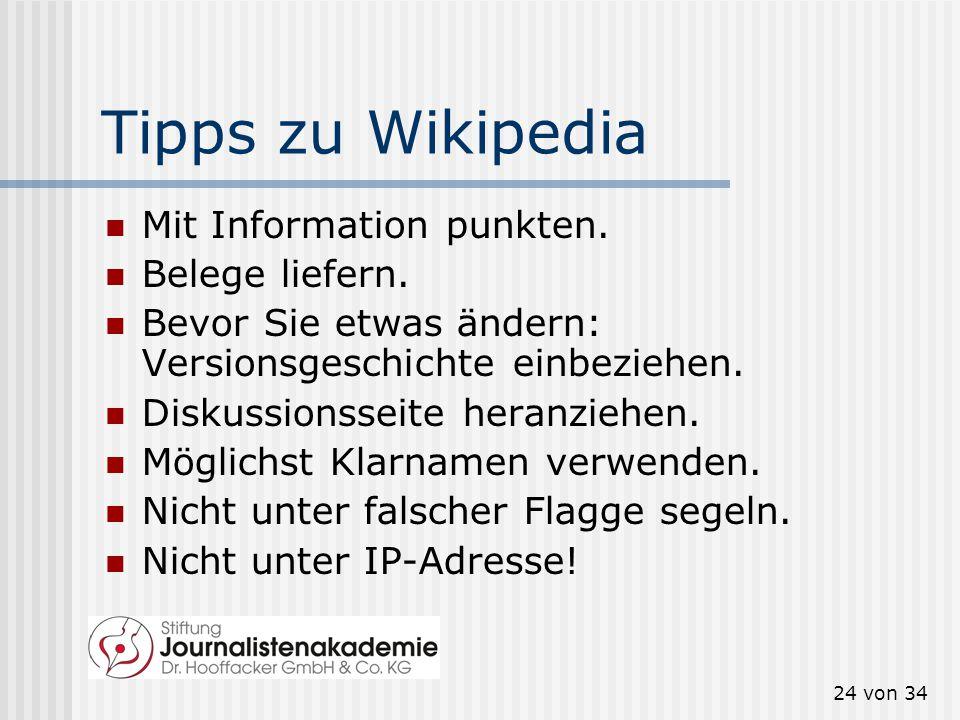 23 von 34 Was Wikipedia nicht mag Siemens verschönerte den Eintrag über Klaus Kleinfeld. Das war nicht gut für die PR.
