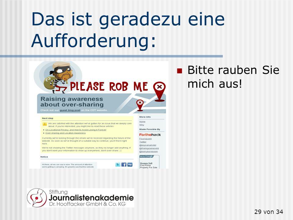 28 von 34 Was leisten Geo-Dienste? www.google.de/latitude