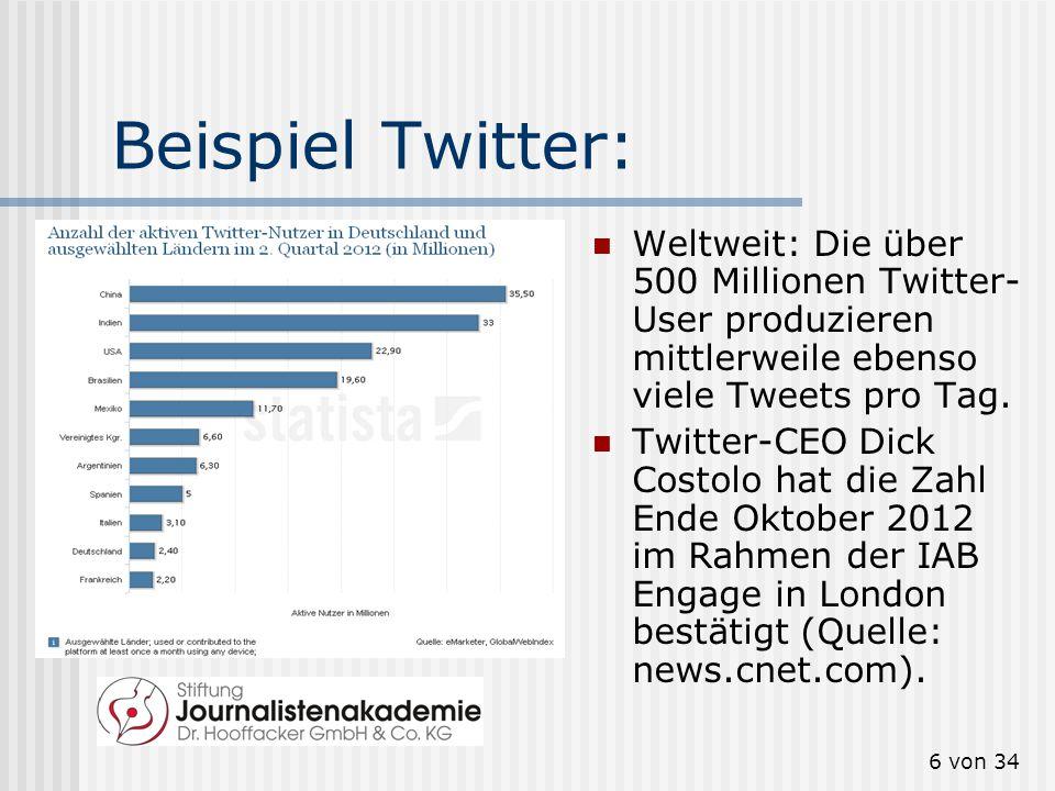 5 von 34 Beispiel Facebook: Quelle: http://www.allfac ebook.de/userdat a/deutschland?p eriod=1year http://www.allfac ebook.de/userdat a/deutschland?p