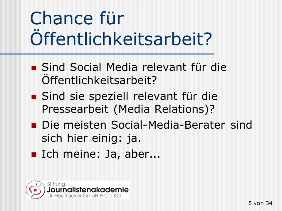 7 von 34 Unternehmen und Social Media 47 Prozent aller Unternehmen in Deutschland setzt soziale Medien ein. Als wichtigstes Ziel nennen 82 Prozent die