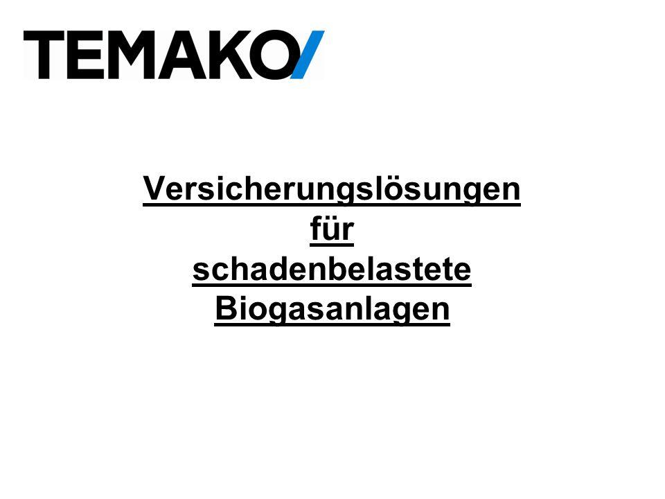 Versicherungslösungen für schadenbelastete Biogasanlagen