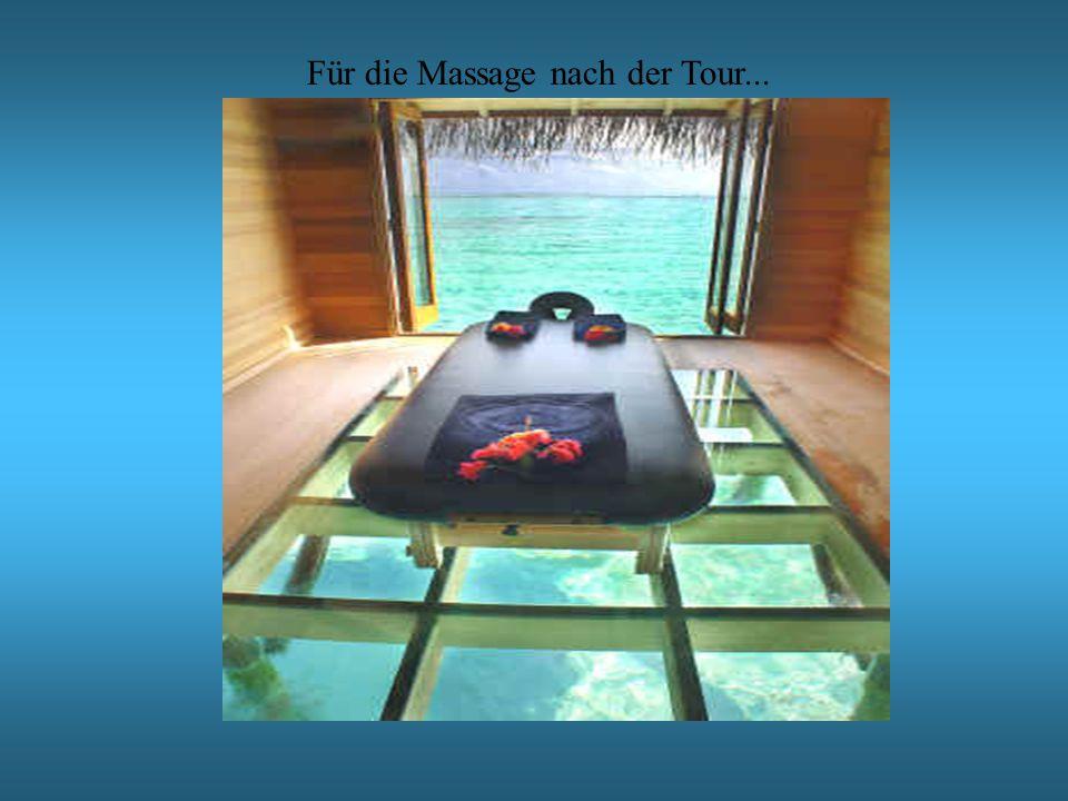 Für die Massage nach der Tour...