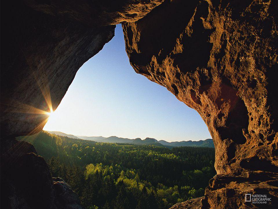 Sächsische Schweiz Der Kuhstall erhielt seinen Namen vermutlich im 30-jährigen Krieg, als Bauern hier ihr Vieh vor den schwedischen Soldaten versteckten.