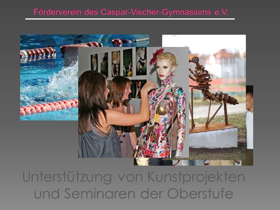 Unterstützung von Kunstprojekten und Seminaren der Oberstufe