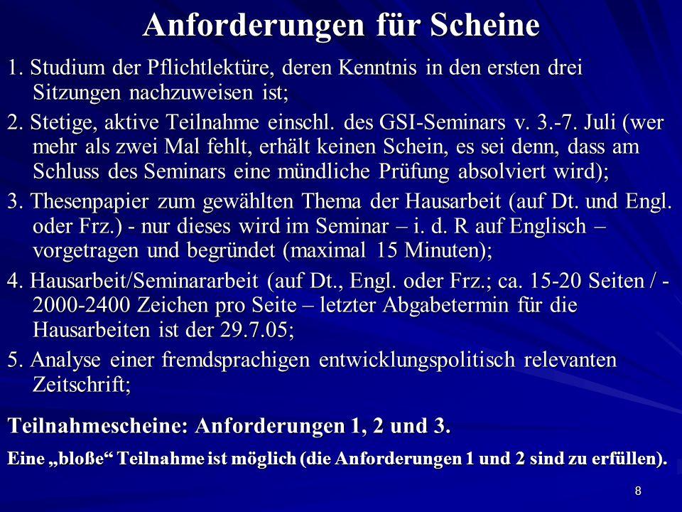 9 Pflichtlektüre Uwe Holtz: EP - Bilanz und Herausforderungen Leitfragen 1.