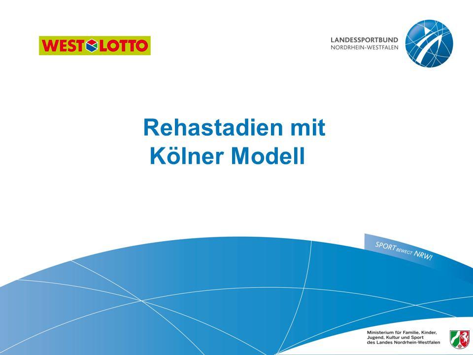 Rehastadien mit Kölner Modell 