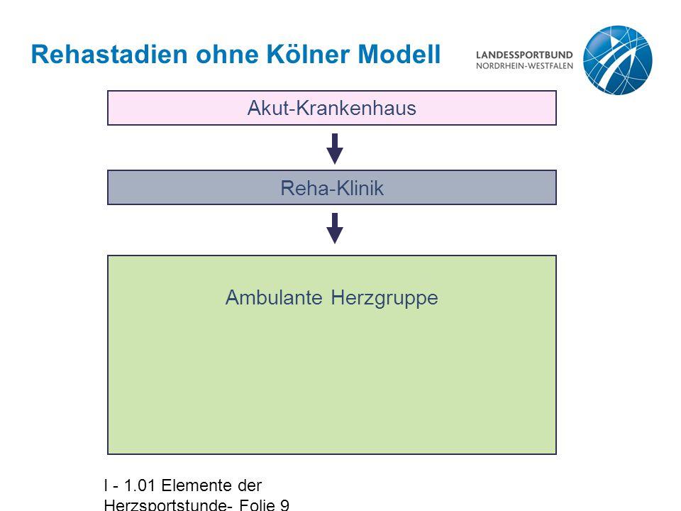 I - 1.01 Elemente der Herzsportstunde- Folie 20 Prozentuale Verteilung der Stundeninhalte am gesamten Trainingsprogramm (Nach Lagerstrøm)