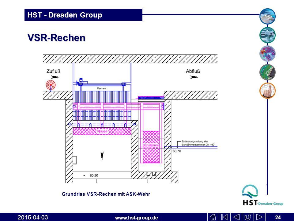www.hst-group.de HST - Dresden Group VSR-Rechen 24 2015-04-03 Grundriss VSR-Rechen mit ASK-Wehr