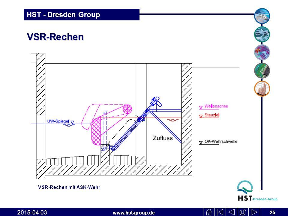 www.hst-group.de HST - Dresden Group VSR-Rechen 25 2015-04-03 VSR-Rechen mit ASK-Wehr