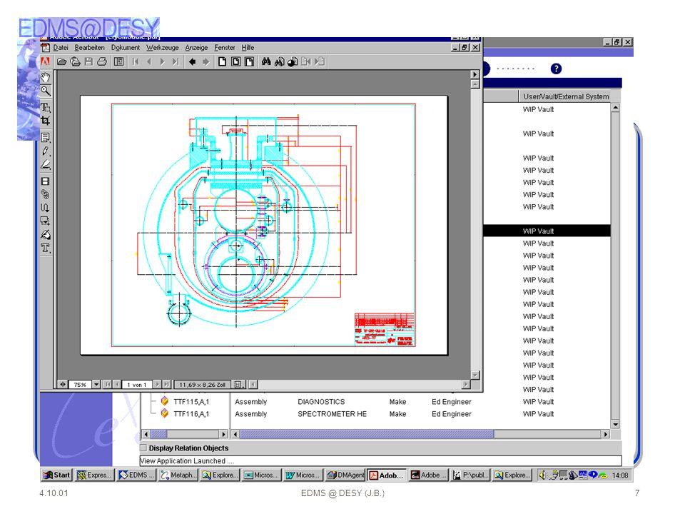 4.10.01EDMS @ DESY (J.B.)18 Dokumente werden durch Attribute beschrieben techn.