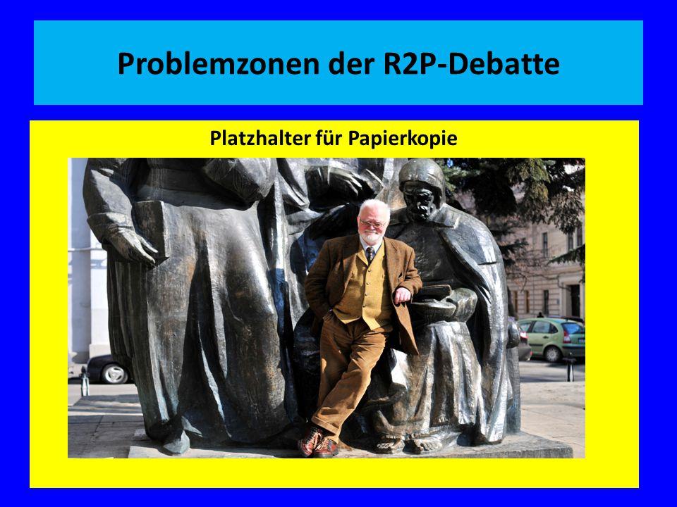 Problemzonen der R2P-Debatte Platzhalter für Papierkopie