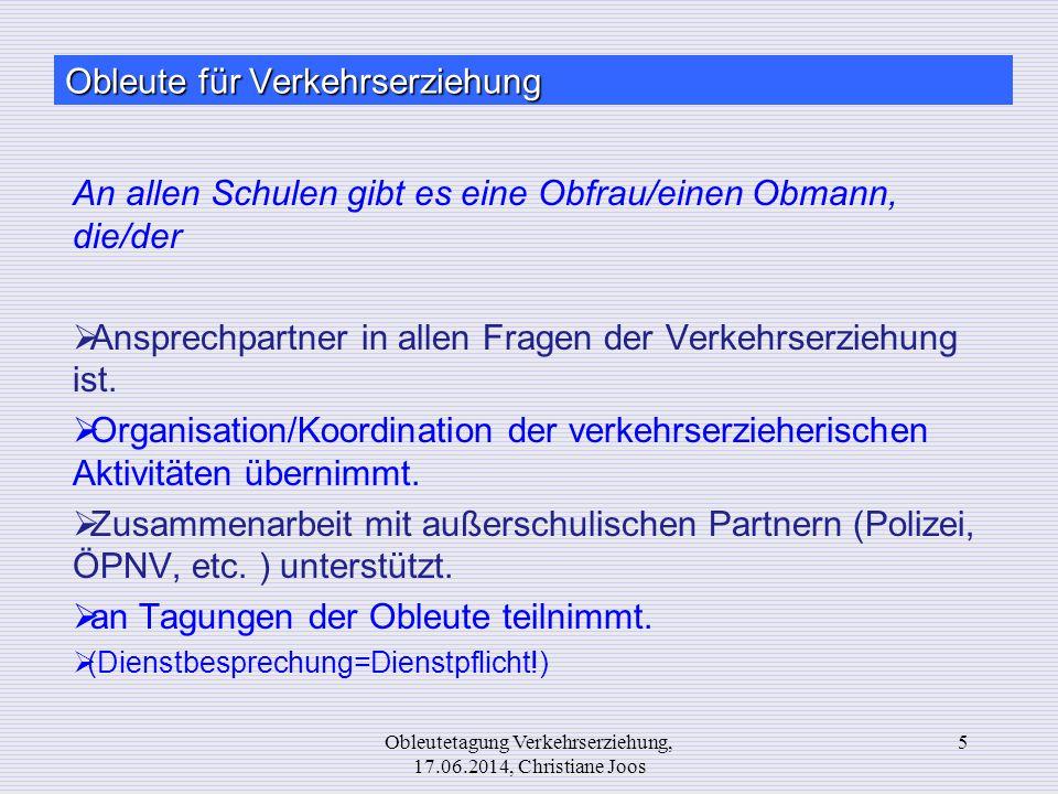 Website 16Obleutetagung Verkehrserziehung, 17.06.2014, Christiane Joos