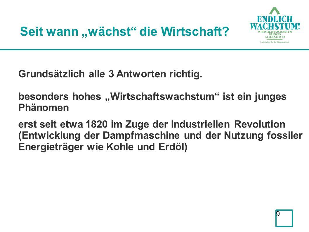 10 Historische Entwicklung von Wachstum Quelle: http://www.theatlantic.com/business/archive/2012/06/the-economic-history-of-the-last-2000-years-part-ii/258762/