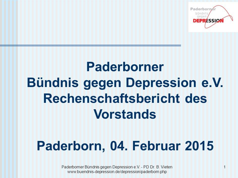 12 Auswertung der Veranstaltung Paderborner Bündnis gegen Depression e.V.