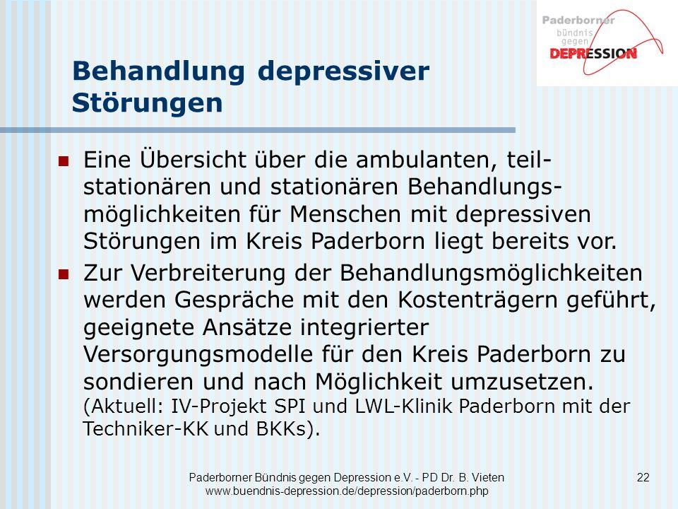 22 Paderborner Bündnis gegen Depression e.V.- PD Dr.
