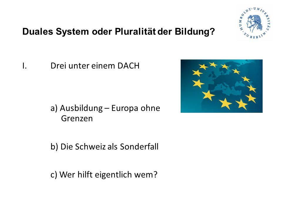 Duales System oder Pluralität der Bildung.