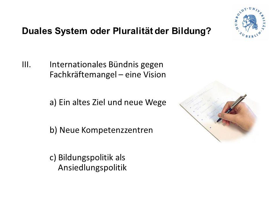 Duales System oder Pluralität der Bildung? Vielen Dank für Ihre Aufmerksamkeit!