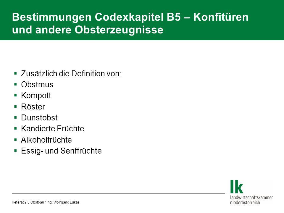 Referat 2.3 Obstbau / Ing.