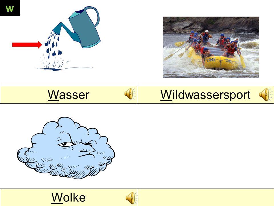 WasserWildwassersport Wolke w