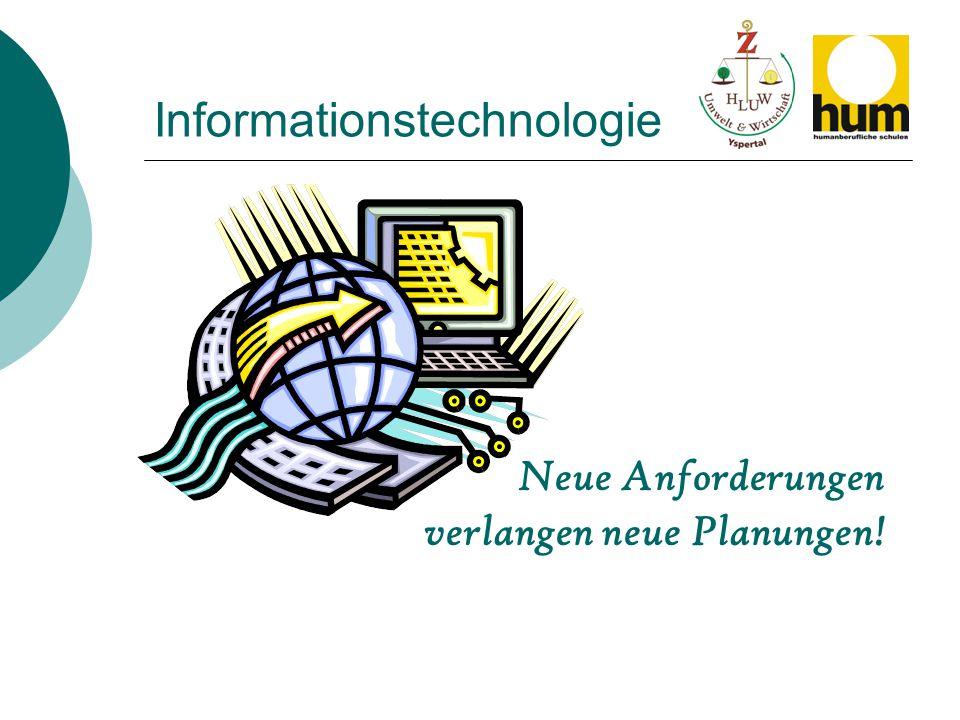 Informationstechnologie Neue Anforderungen verlangen neue Planungen!