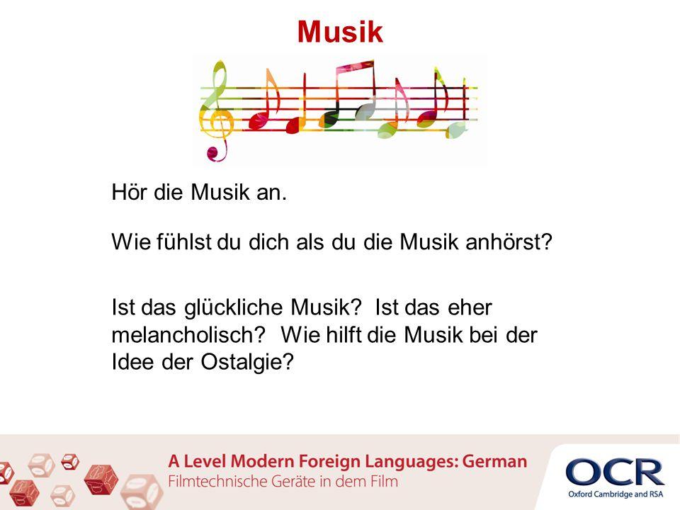 Musik Hör die Musik an. Wie fühlst du dich als du die Musik anhörst.