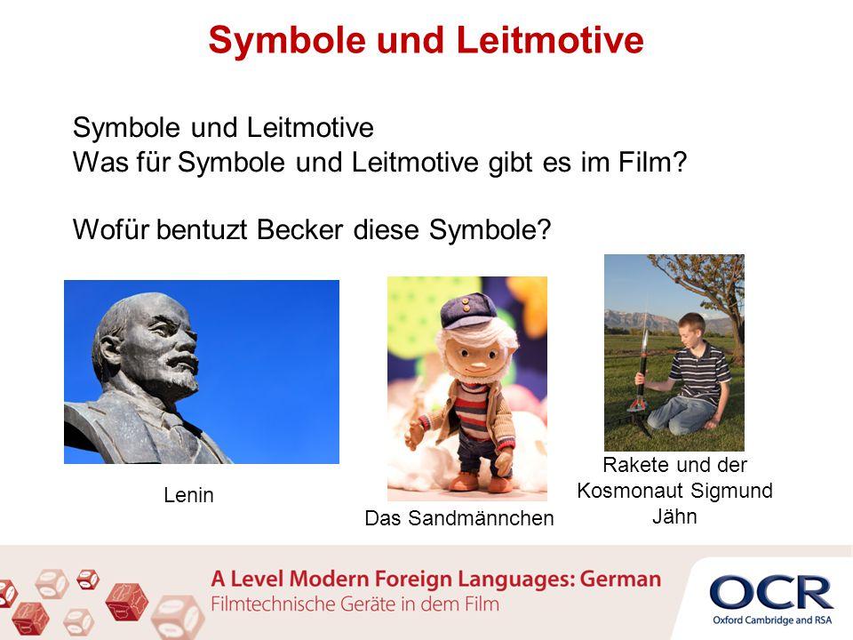 Symbole und Leitmotive Was für Symbole und Leitmotive gibt es im Film.