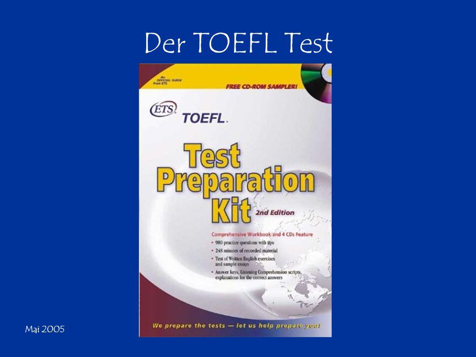 Mai 2005 Der TOEFL Test