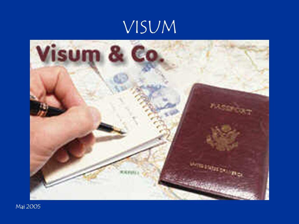 Mai 2005 Die Beantragung des Visums Um das Visum sollte man sich als erstes bemühen.