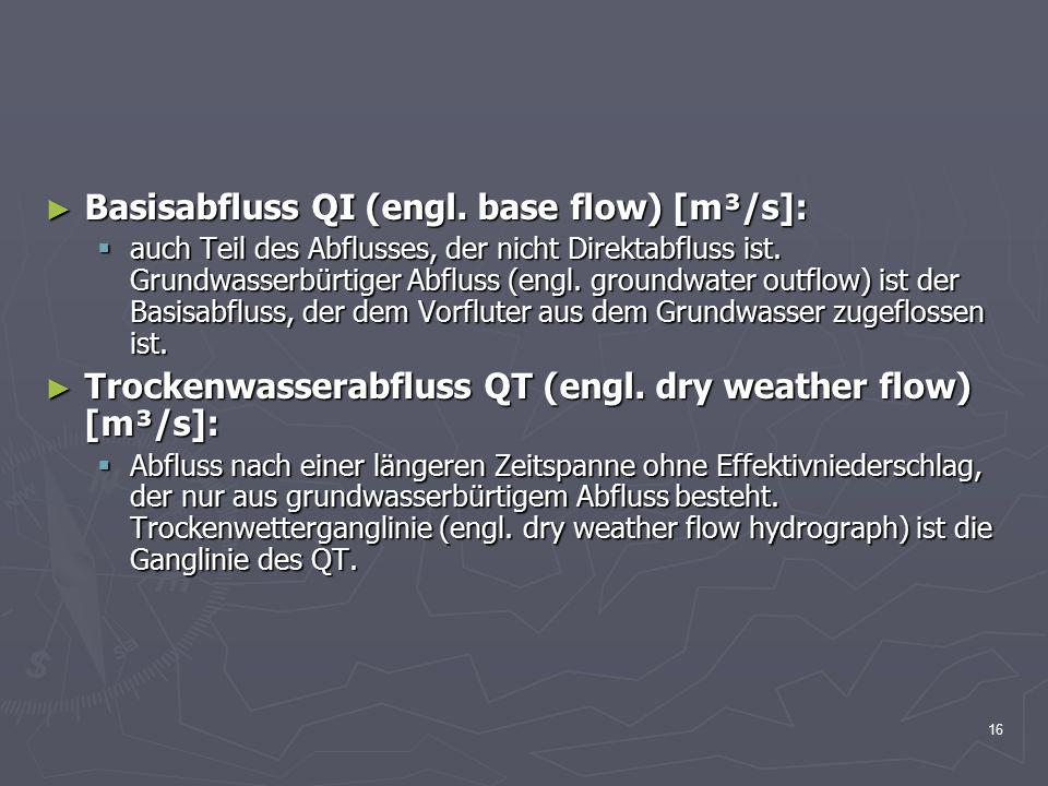 16 ► Basisabfluss QI (engl.