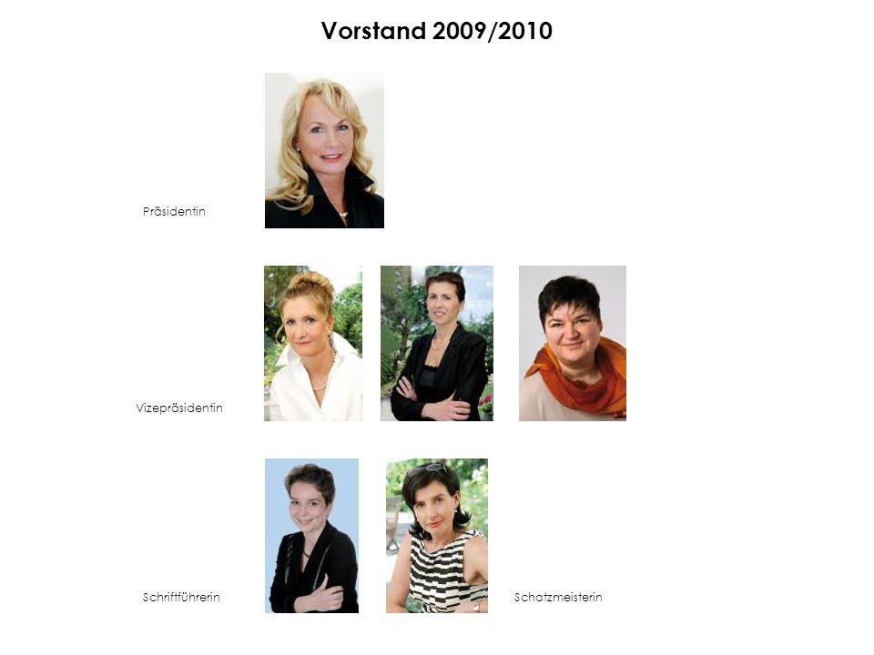Vorstand 2009/2010 Präsidentin Vizepräsidentin SchriftführerinSchatzmeisterin