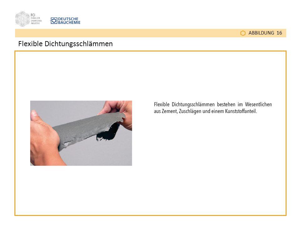 ABBILDUNG 16 Flexible Dichtungsschlämmen