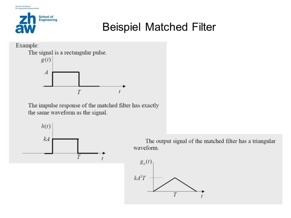 Beispiel Matched Filter