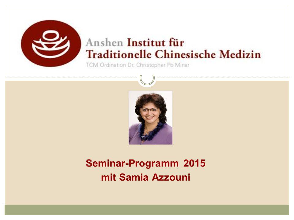 Seminar-Programm 2015 mit Samia Azzouni
