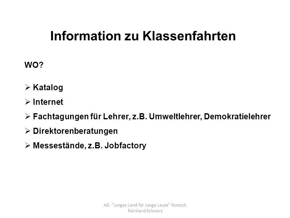 Information zu Klassenfahrten AG